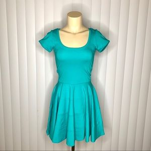 Felicity & Coco Teal S/S Fit n Flare Dress
